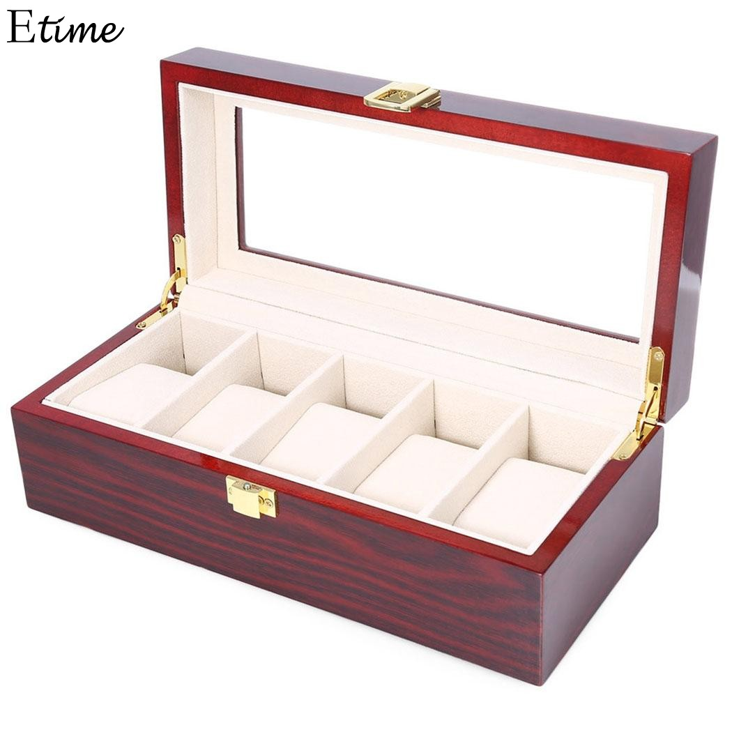 FANALA 2/5/6 Grid Watch Box Display Case Watch Box for Wrist Watches Jewelry Watch Winder Storage Organizer Holder Metal Buckle bobo bird watches display box organizer storage box leatherette wrist watch holder jewelry display case