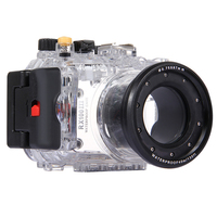 40m 130ft Waterproof Underwater Camera Housing Case Bag Transparent Waterproof Protective Case For Sony RX100 III ,DHL free ship