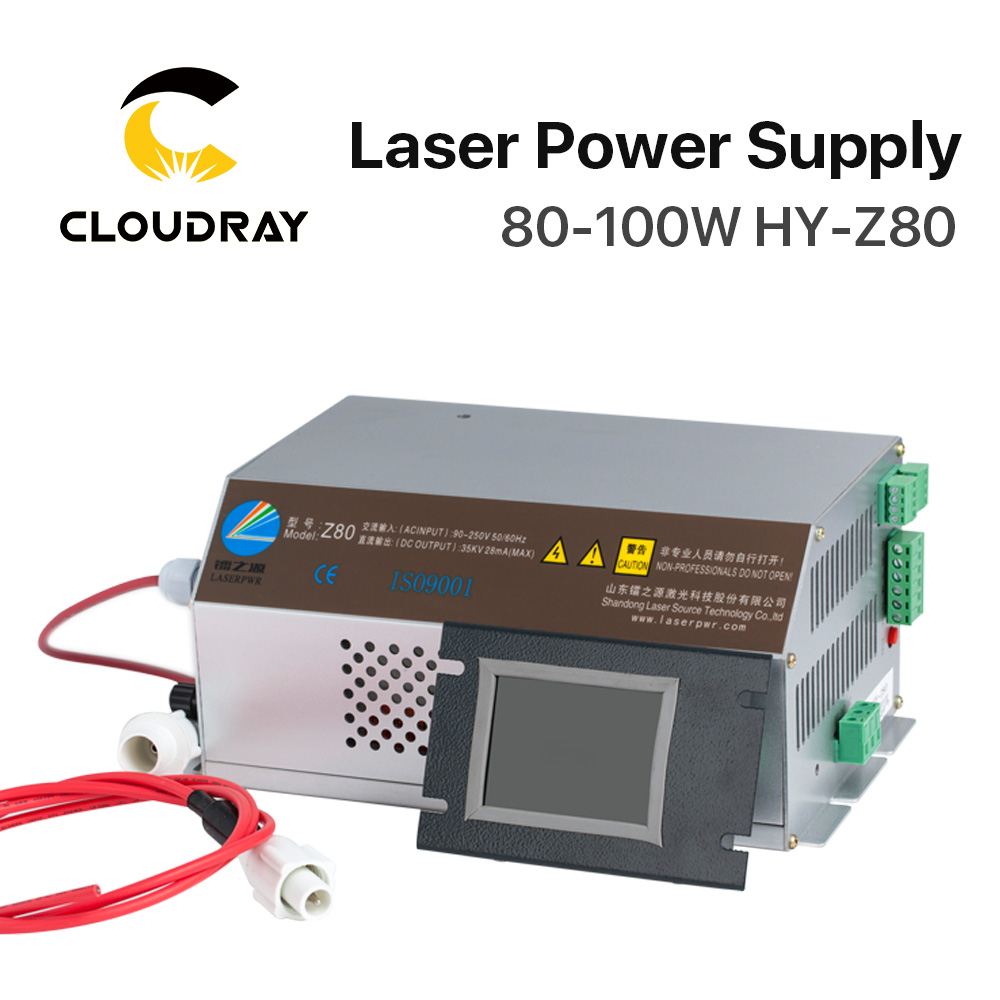 Cloudray 80-100W CO2 Laser Power Supply Monitor AC90-250V  EFR Tube for CO2 Laser Engraving Cutting Machine HY-Z80 Z Series