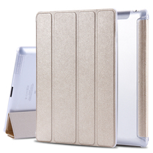 9.7″ Leather Case for ipad 4 3 2 Flip Smart Cover Smooth Touch Silk Skin Smartcover for iPad4 iPad 3 iPad2 Tablet Stand Case