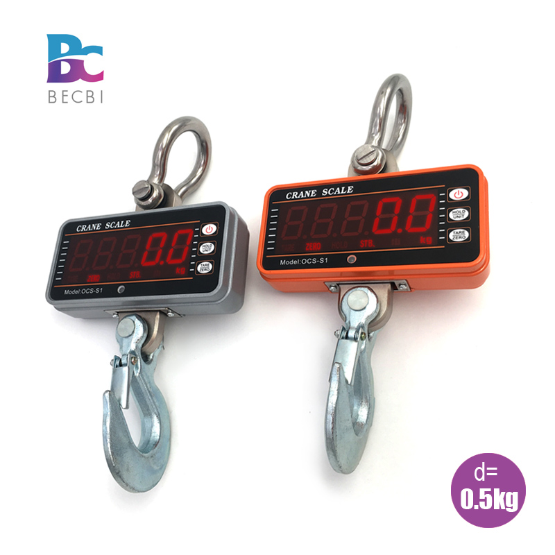 BECBI Precision Hanging Scale 1ton LED Display 1000Kg Crane Scale Digital Electronic Weighing Hook Bascula Digital Hassas Terazi
