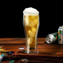 400 мл двойная-слои стекло кофейная чашка холодный напиток чашка пиво, сок кружка горячих напитков высокое боросиликатное стекло высокое качество