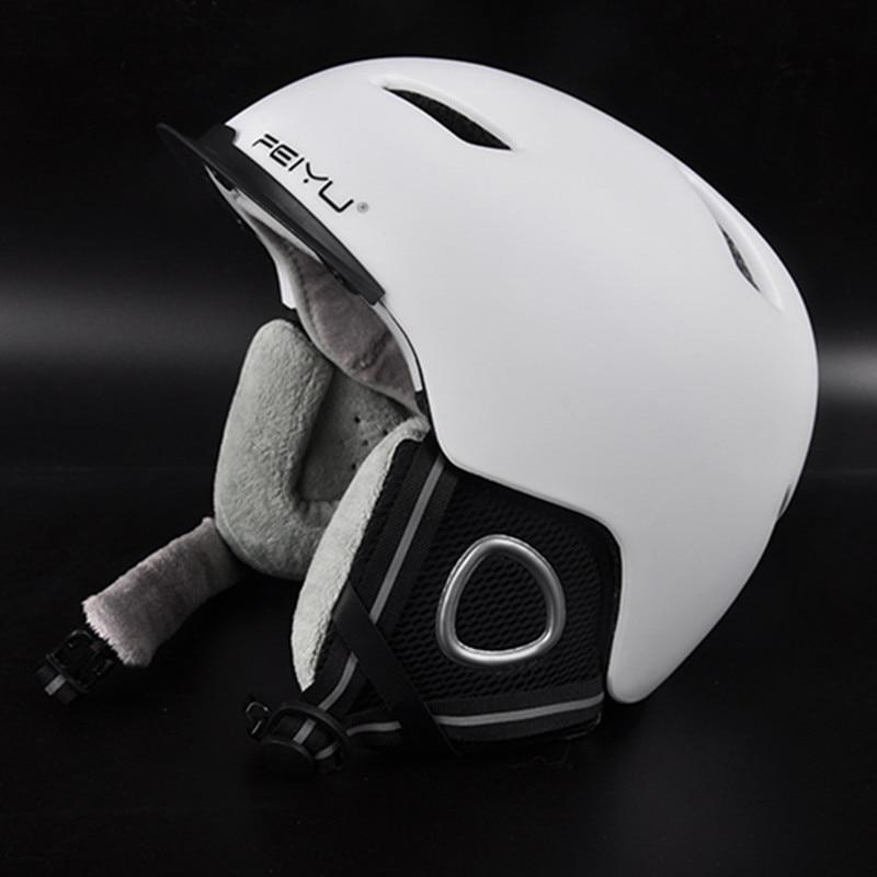 Prix pour Marque Ski casque Moulée Intégralement réglable Snowboard casque Hommes Femmes en plein air Chaud coupe-vent sport Extrême De Patinage casque