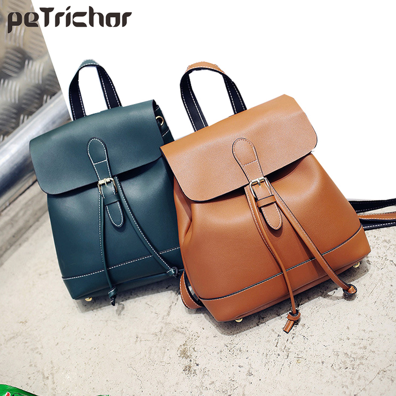 Petrichor Vintage Rucksack Women Multifunctional School Backpack For Teenage Girls Large Capacity Drawstring Travel Backpacks