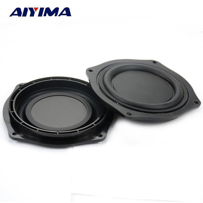 Aiyima 2Pcs 4Inch Loudspeaker DIY Bass Speaker Vibrating Membrane Passive Bass Woofer Diaphragm Plate