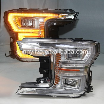 New Arrival led Headlight For FORD for Raptor F150 2015-2017 YZ Flowing Tuning light