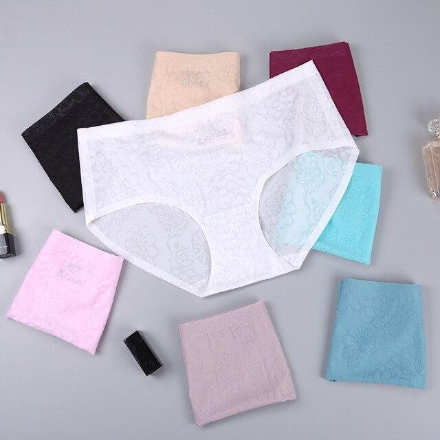 Femmes mode moyen sans couture fille culottes femmes sexy culottes femmes imprimé coton slips culottes shorts pour culottes femmes