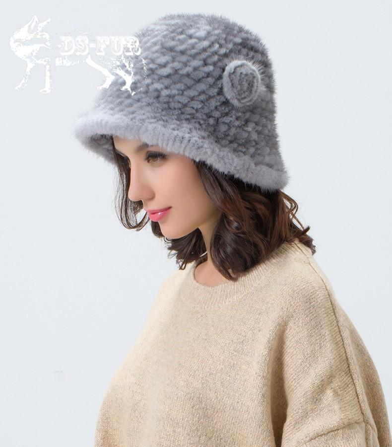 Weave real mink fur hat07