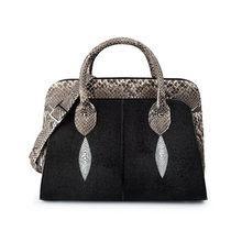 c609b56f98 Mode De Luxe Designer Véritable Galuchat En Cuir Femmes de sac à main  coquillage Exotique Dame de Peau de Serpent sac à bandouli.