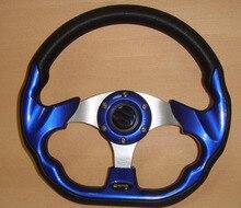 GV-SW288 universal racing steering wheels for  car styling 13 inch  pu pvc leather car steering wheel power ball  wheels sport