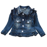 1 4T Baby Jeans Coat Babe Girs Jeans Jacket Denim Outerwear Children S Clothing Spring Autumn