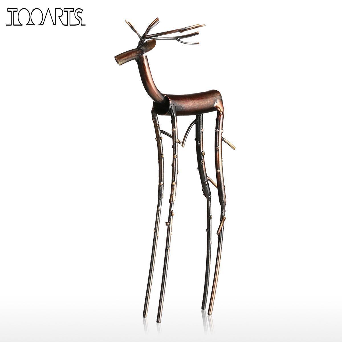 Tooarts Black Long Leg Moose Figurine Iron Home Rhaliexpress: Moose Figurines In Home Decor At Home Improvement Advice
