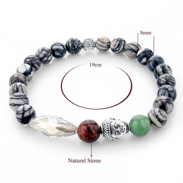 Фото женские и мужские буддийские браслеты chicvie из натурального