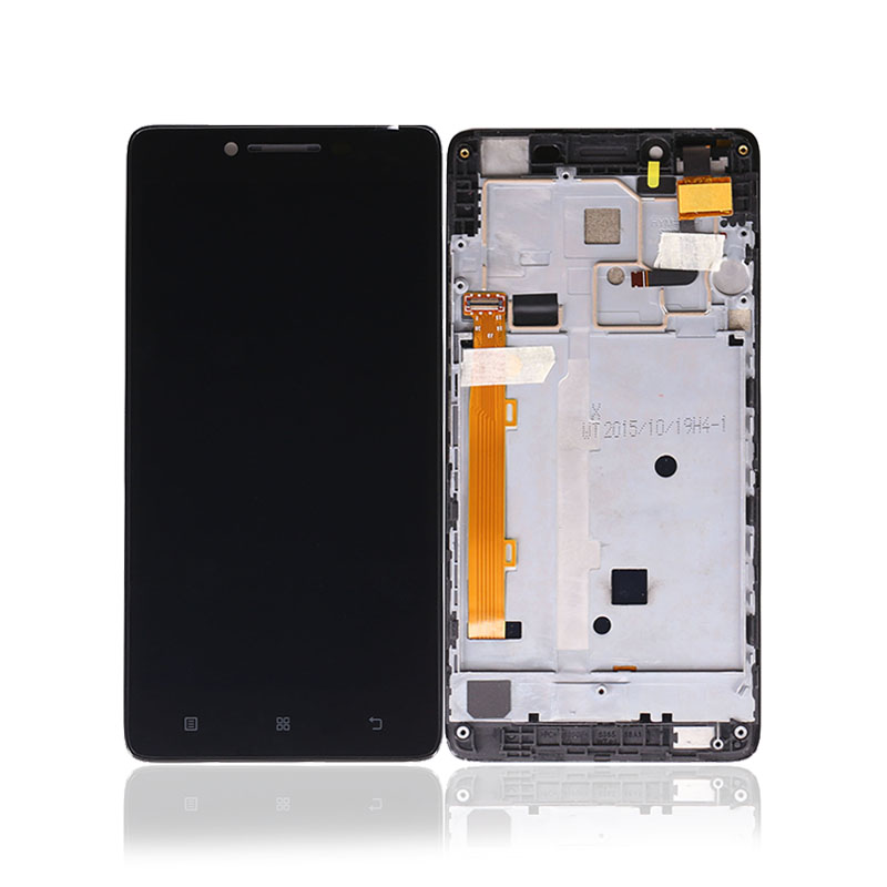 LCD For Lenovo A6000 Display Touch Screen Digitizer For Lenovo A6000 LCD Panel With Frame Black Replacement Free Shipping