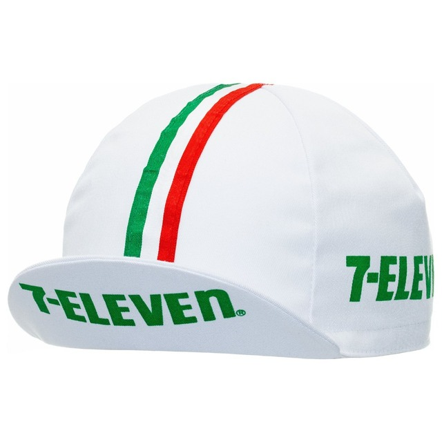 Retro 7-ELEVEN cycling caps white bike wear hat Breathable classic bicycle caps men and women MTB