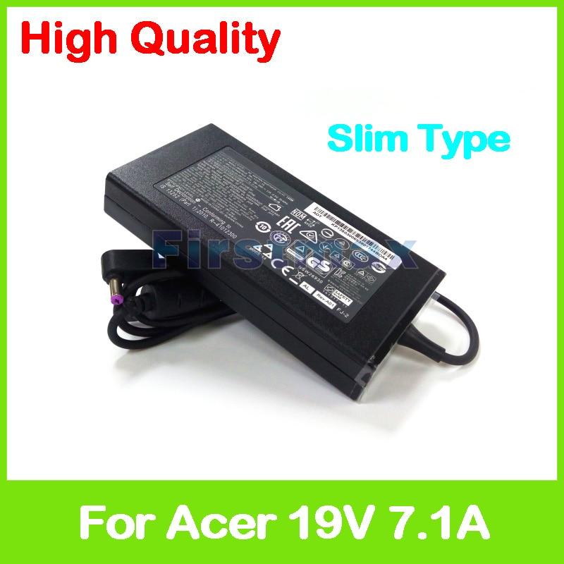 Slim 19V 7.1A AC adapter 90.NKD57.C01 ADP-135KB T KP.13501.007 laptop charger for Acer Aspire V15 Nitro VN7-592 VN7-592G slim 19v 7 1a ac adapter kp 13501 007 kp 13503 007 pa 1131 16 laptop charger for acer aspire v17 nitro vn7 792 vn7 792g vx5 591g