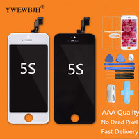 YWEWBJH Test AAA Quality LCD For IPhone 5S Screen Touch Digitizer Assembly No Dead Pixel Black