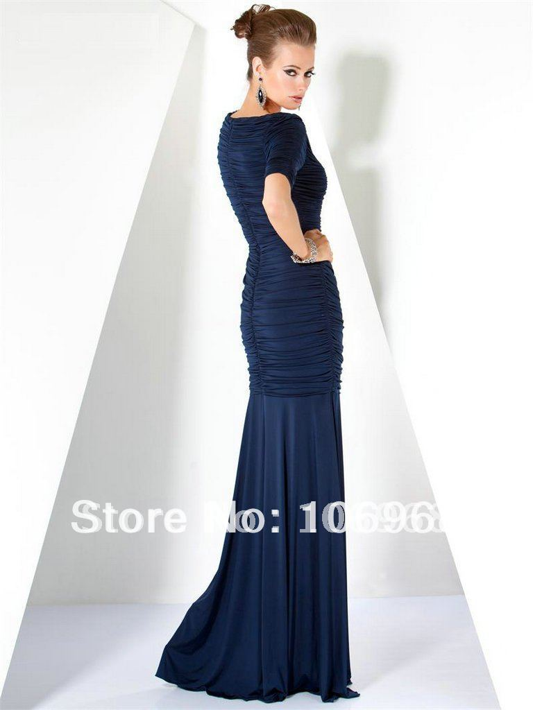 NEW LOOK Free Shipping Short Sleeves Sheath Evening Dress E145-in Evening  Dresses from Weddings   Events on Aliexpress.com  3e321180f67a