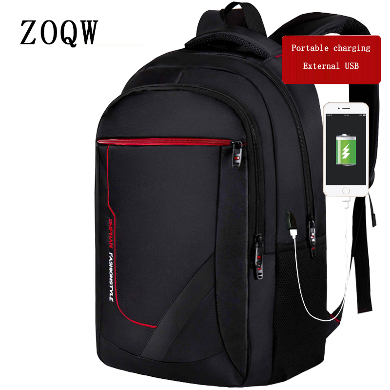 ZOQW 2018 New Laptop Backpack External USB Charging Computer Backpacks  Anti-Theft Waterproof Bags For cfaf26577b