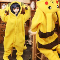 New Lovely Yellow Pikachu jumpsuits 1/3 1/4 1/6 BJD DD MSD YOSD Doll clothes