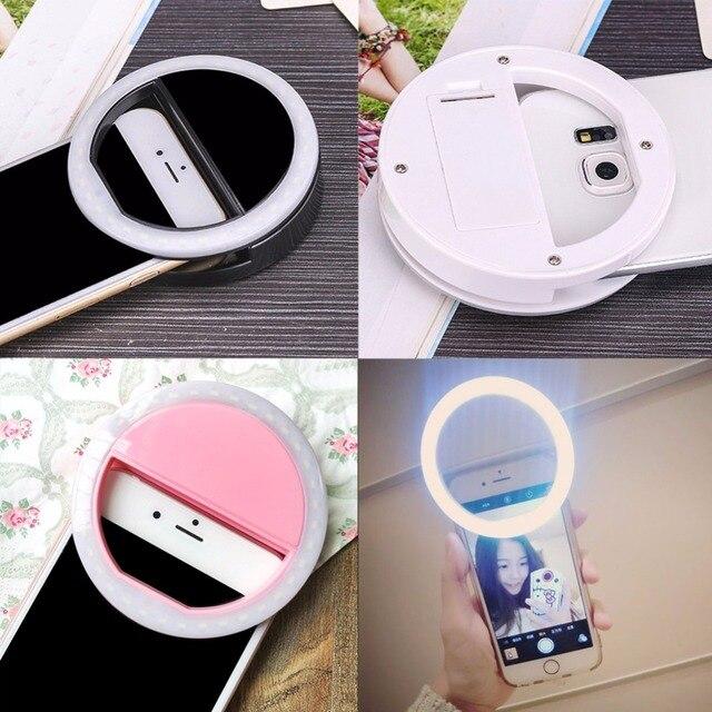di luce led up copertura del telefono mobile android selfie anello ... - Mobile Specchio Make Up