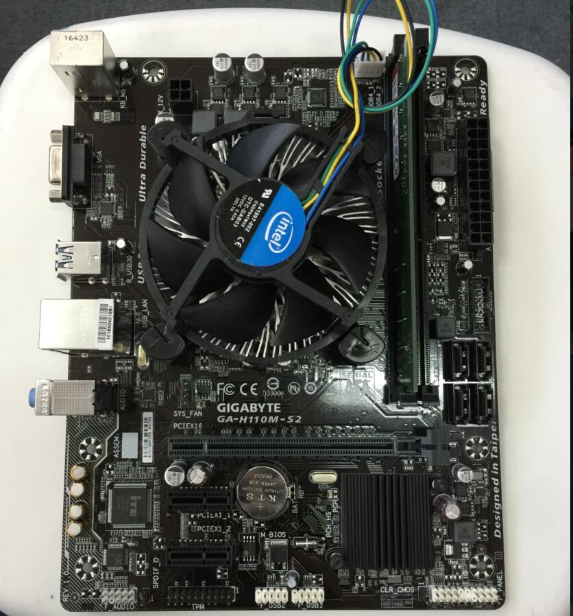 Kcmsywjr intel g4600 3.6 plus ssd 120g ddr4 4 gb 2400 hz h110m combinação placa-mãe de pacotes