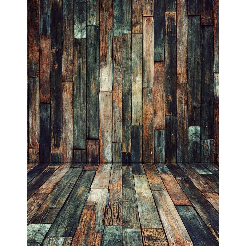 5x7FT Vintage Wood Pallets Timber Wall Wooden Floor Custom ...