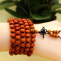 Aliexpress hot diy pulseras 8mm 108 beads Natural Sandalwood Wood bangle, Rosary Prayer strand bracelets for women men jewelry
