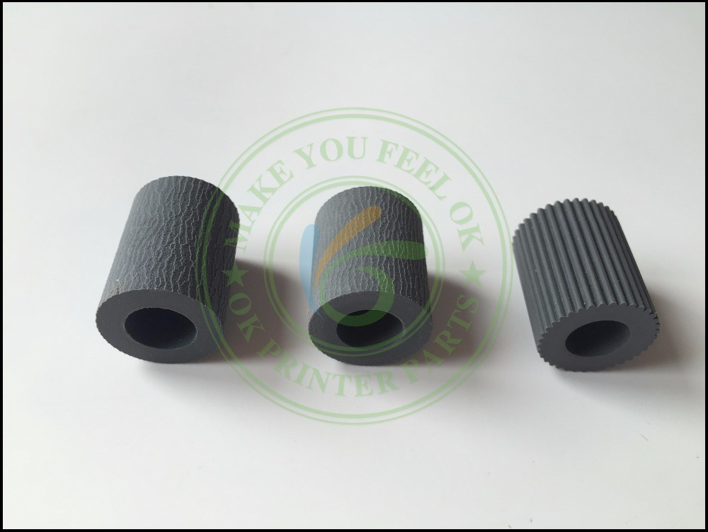 2AR07220 2AR07230 2AR07240 Paper Pickup Feed Separation Roller tire rubber for Kyocera KM1620 1650 2020 2050 3035 3040 4030 5050 pickup roller feed roller separation roller for epson r200 r210 r220 r230 r310 r350