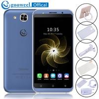 新しいgooweel s8携帯電話5.3インチhd ips MTK6580クワッドコアスマートフォン5mp + 5mp gps 1ギガバイトram 8ギガバイトrom 3グラムロック解除携帯電話