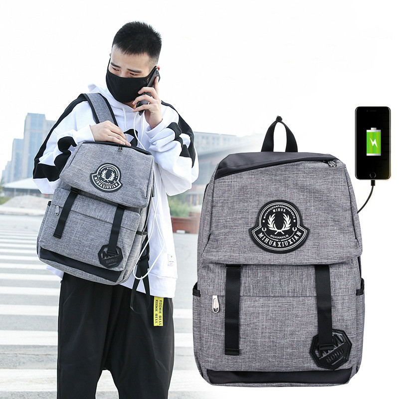 Fashion Laptop Computer Backpack Mochila Student School College Book Bag With USB Charge Cable Port Men Shoulder Bag girsl kid backpack ladies boy shoulder school student bag teenagers fashion shoulder travel college rucksack mochila escolar new
