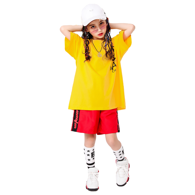 Boy Girl summer 2019 clothes Set 4 6 8 10 12 14 16T hip hop dance costumes kids Jazz set on the boy outfits kids clothes boys (13)