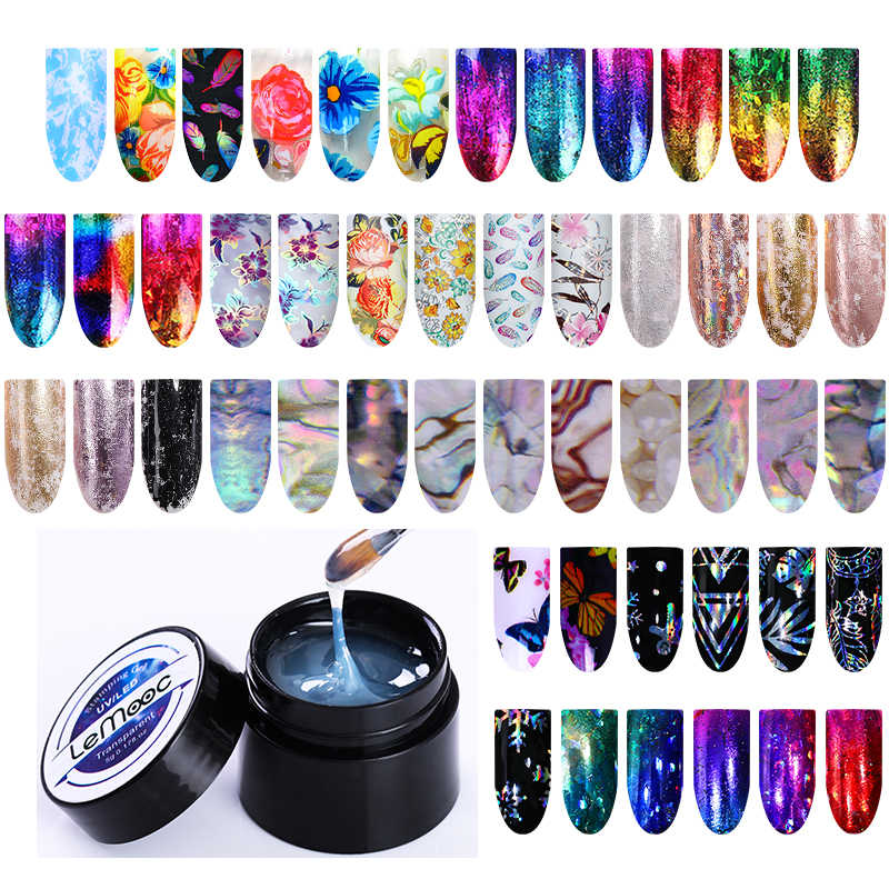 Lemooc 5 Ml Kuku Foil Perekat Lem Gemerlapan Sky Sticker Transfer Uv Gel Polandia Lem DIY Nail Art Gel Varnish pernis