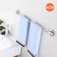 Stainless steel Rack 40cm Pole Bathroom Towel Holder Kitchen Storage TPE Glue+Vacuum Cup Double Reinforcement Suction