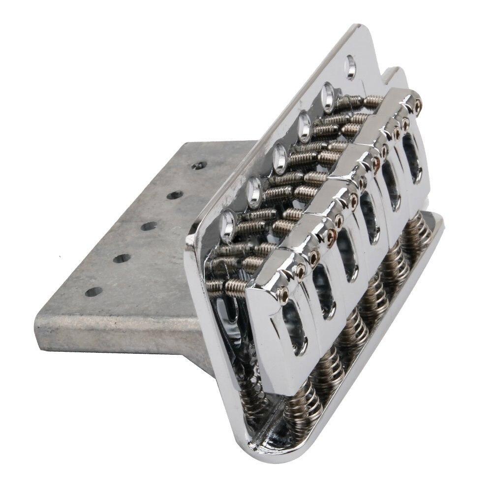 1 Set Chrome Guitar Tremolo Bridge With Bar New(15parts/1 Set)