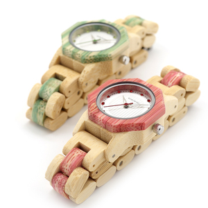 Image 3 - BOBO BIRD Newest Ladies Quartz Watches Octagon Natural Bamboo Watch Case Womens Brand in Wooden Box Dropshipping