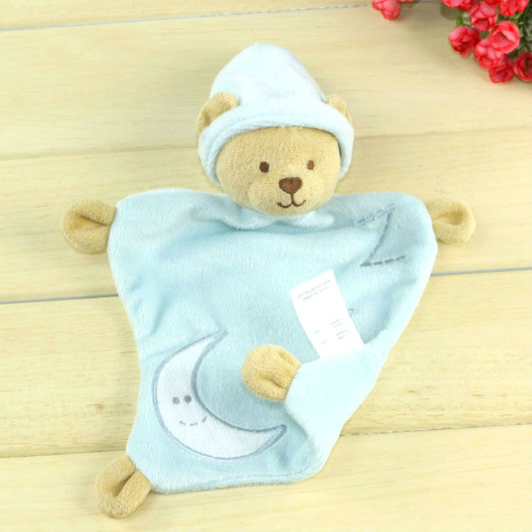 Free Shipping Light Blue Bear Baby Sleeping Towel Baby Plush