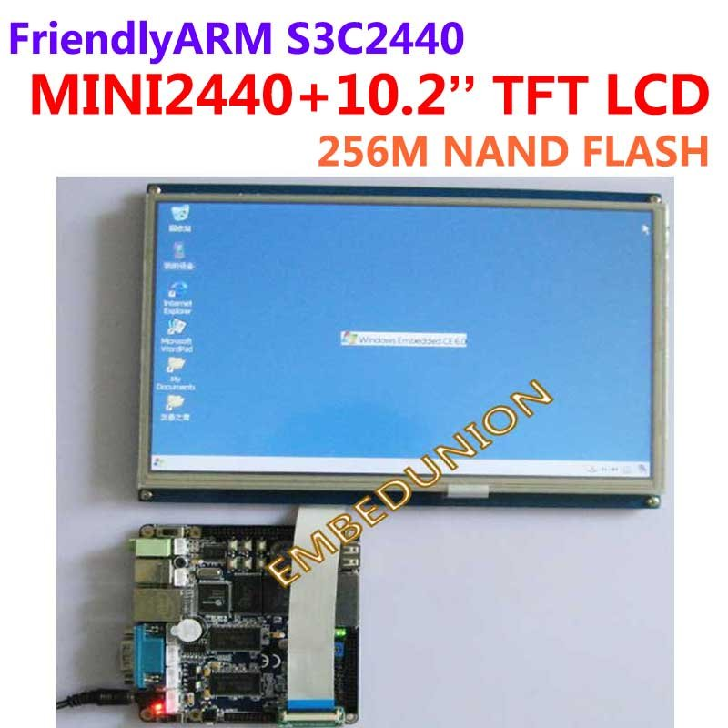 FriendlyARM Development Board Kit MINI2440 + 10.2 inch Touch Screen LCD,64M Ram+256M Flash,Samsung S3C2440 ARM9 ti bluetooth 4 0 ble mini development kit cc2540dk mini cc2541dk mini official tutorial