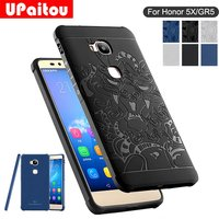For Huawei GR5 Honor 5X Case 3D Carved Dragon Protector Soft Silicon TPU Case Shockproof Ultra