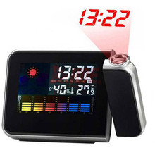 Projection Alarm Clock with Digital Laser Time Projector IN/