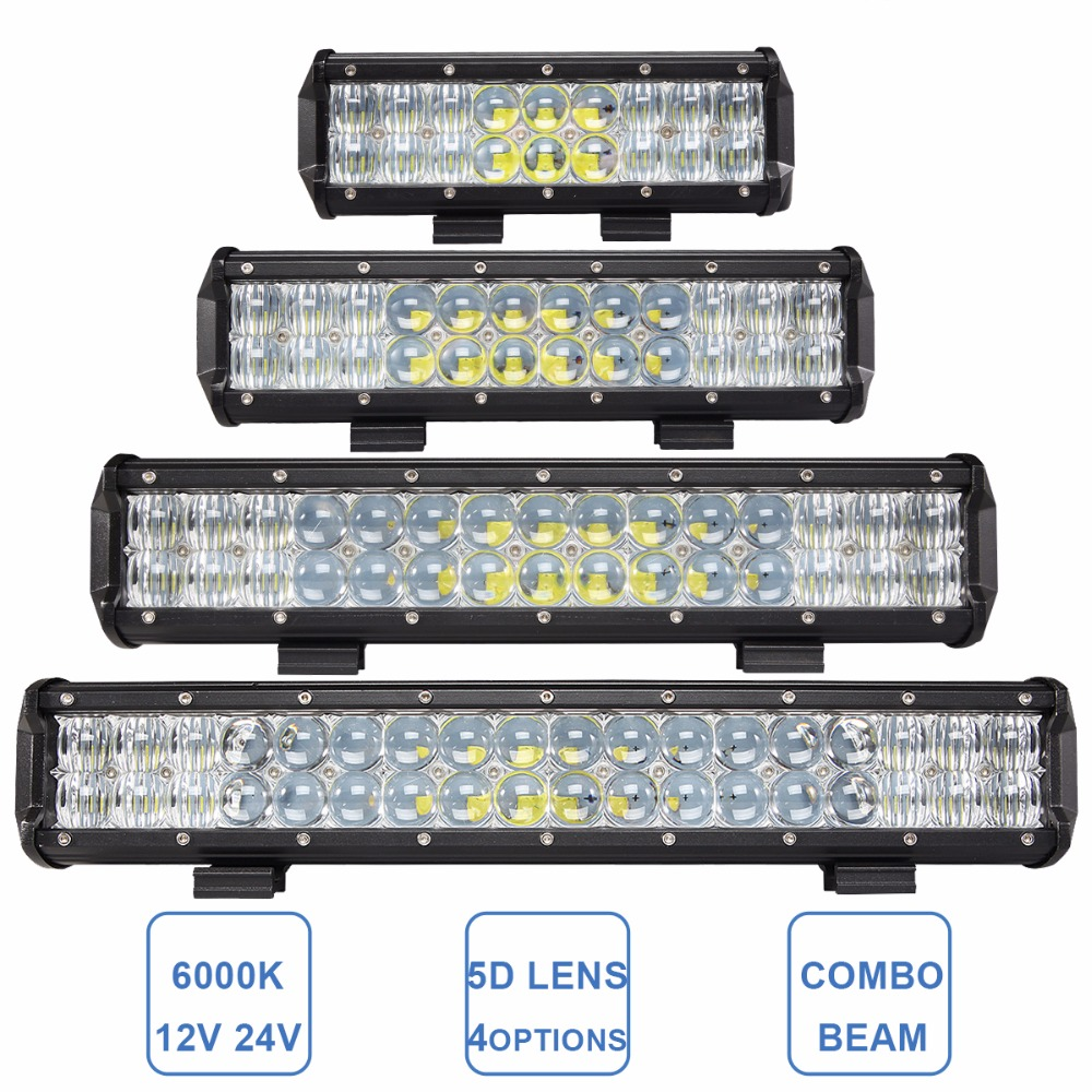 Led Lights For Tractor Trailers : Offroad led light bar  combo car boat truck