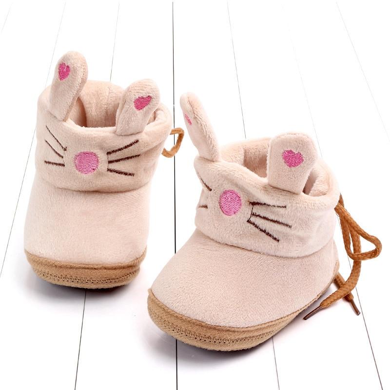 Indoor First Walkers Baby Shoes Cotton Anti-slip Booties Winter Wammer Baby Girl Boy Shoes Newborn Slippers Footwear Booties (30)