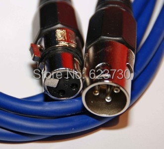 10PCS/lot High quality 5Meter Length 3-pin signal connection DMX XLR Cable or stage light, stage light accessories