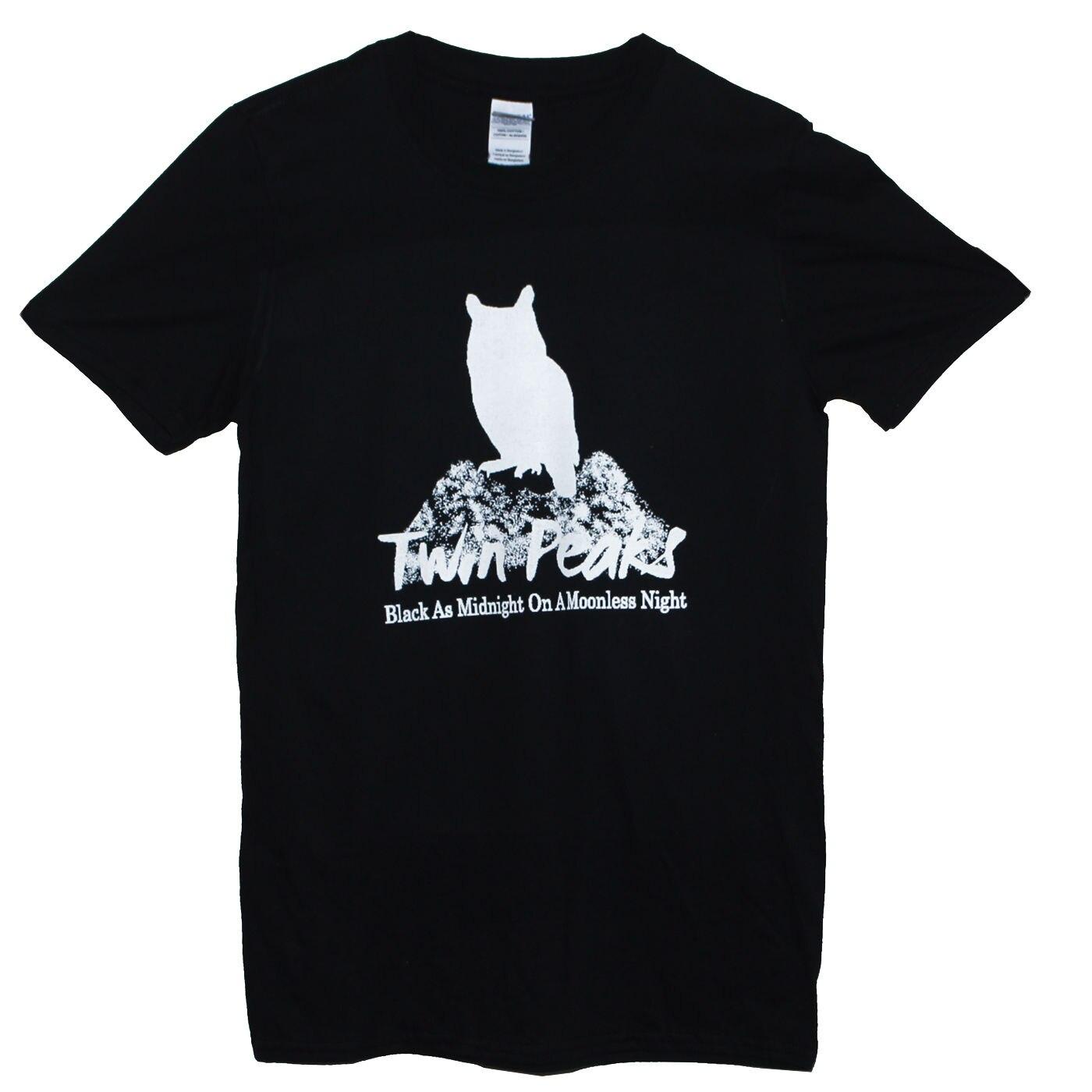 TWIN PEAKS 90s Cult Tv Horror Goth Supernatural Owl Graphic Cool TeeMen Tee Shirt Tops Short Sleeve Cotton Fitness T-Shirt