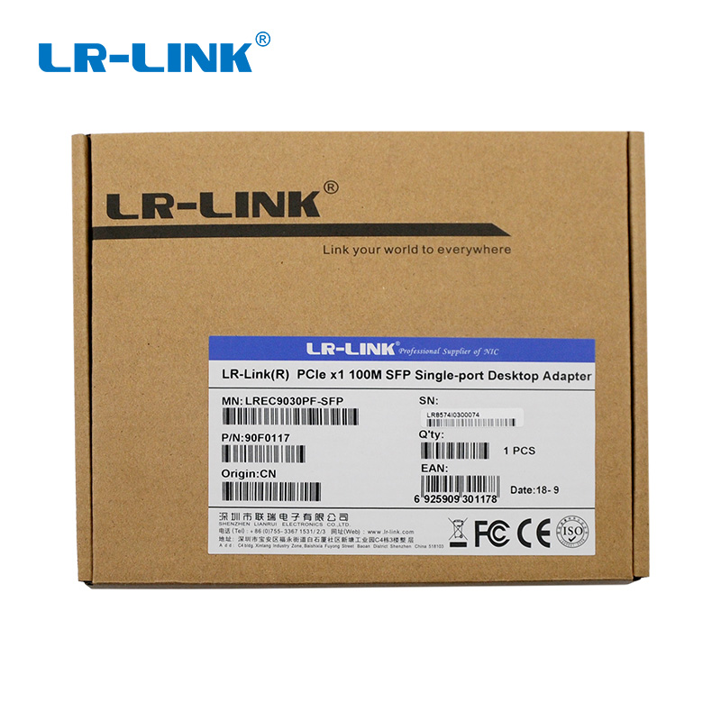 Image 5 - LR LINK 9030PF SFP PCI Express 100Mb Ethernet Network Controller Card Lan Adapter Desktop PC Intel 82574 Nic-in Network Cards from Computer & Office