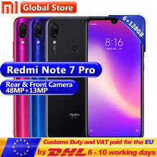 Yeni Xiaomi Redmi Not 7 Pro 6 GB 128 GB Telefon Snapdragon 675 Octa Çekirdek 4000 mAh 6.3 Su Damlası tam Ekran 48 + 13 MP Smartp...