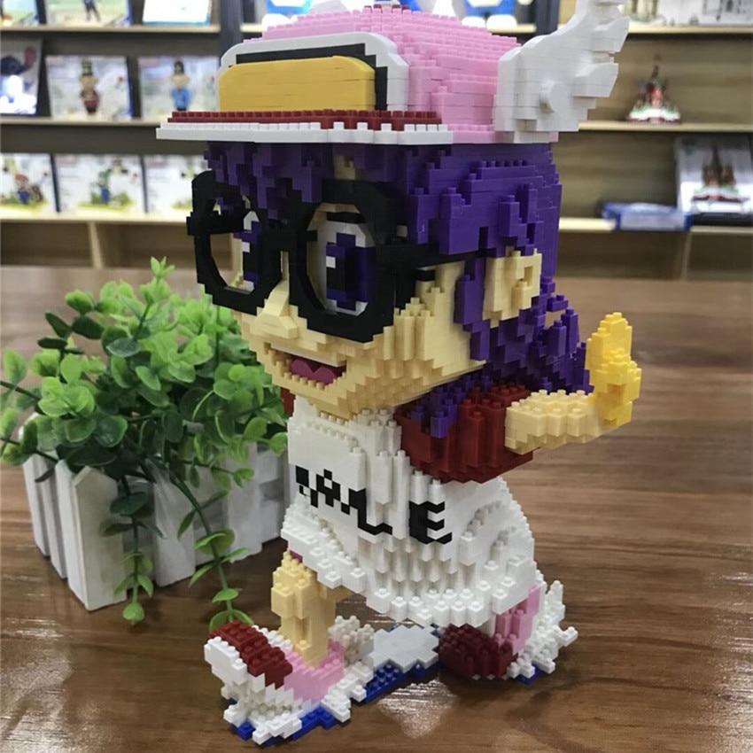 New Design Balody Cartoon Blocks Robot Girl Arale Action Figures Anime Building Blocks Cute Girl Toys For Children 3090pcs