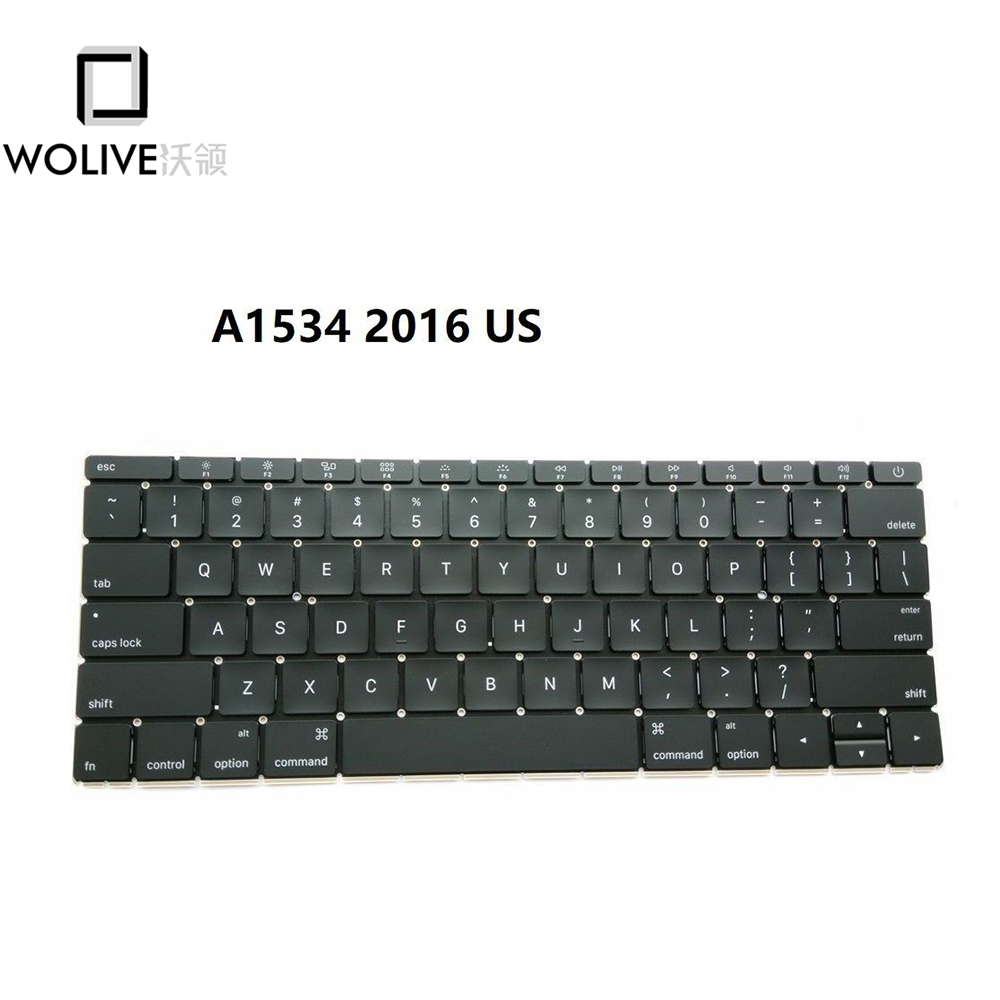 Wolive New Original Replacement Keyboard For MacBook 12