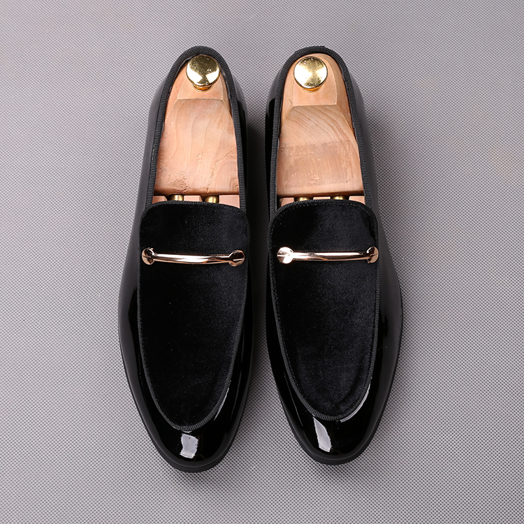 2018 men slip on formal shoes soft leather +black blue cotton Oxfords Dress wedding wingtip Brish style Loafers shoes 62