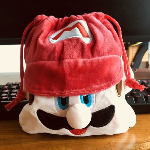 Super Mario Anime Drawstring Bags Plush Storage Handbags Makeup Bag Coin Purses Unisex NEW